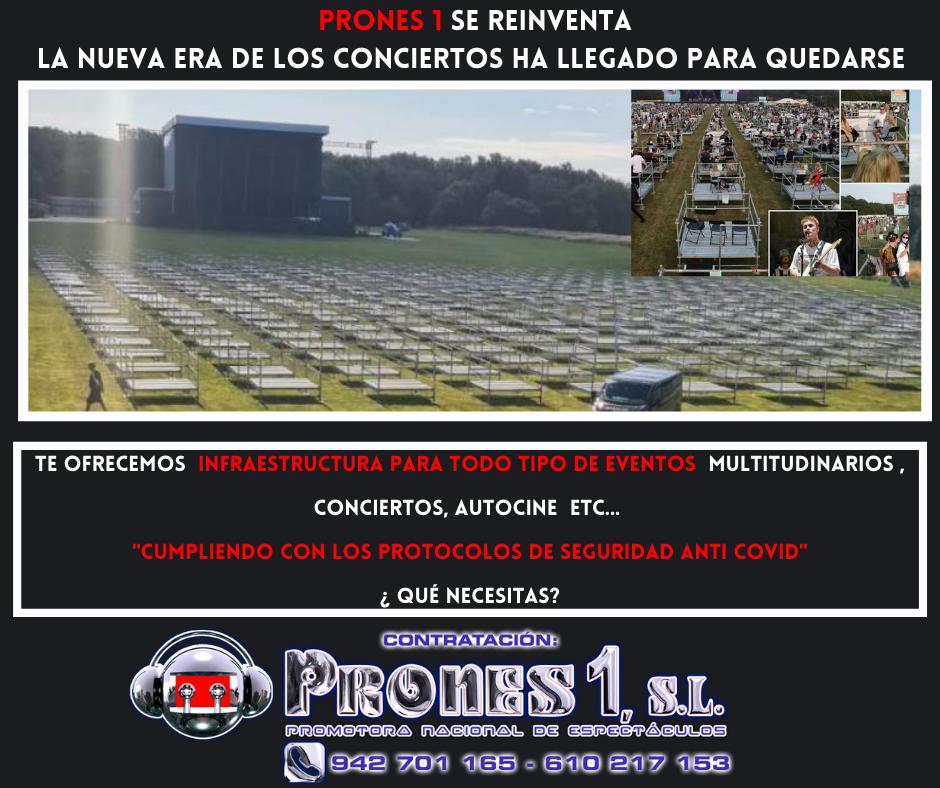 Infraestructuras para conciertos seguros